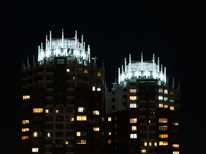Crowned towers