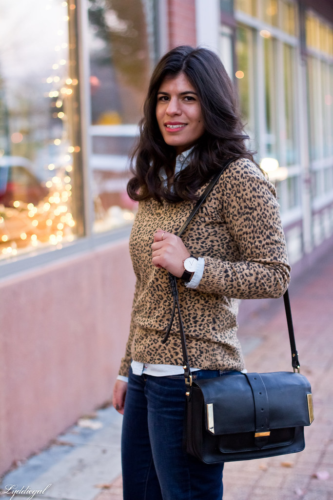 leopard sweater, chambray shirt, jeans-2.jpg
