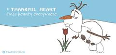 Olaf Thankful Heart