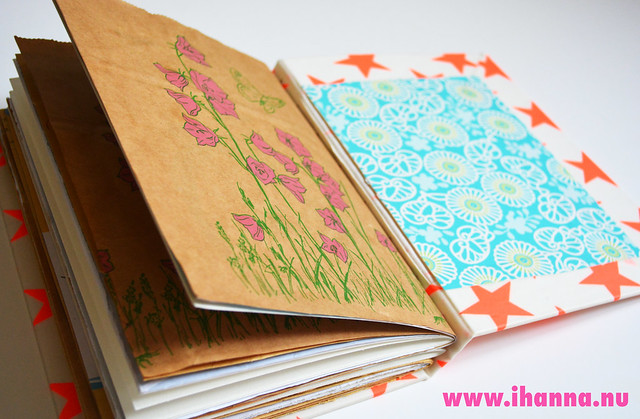 Brown Paper Bag pages inside, Art Journal  made by iHanna