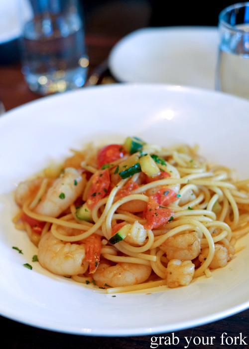 Seafood spaghetti with prawns and crayfish bisque at 400 Gradi, Brunswick