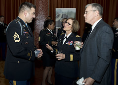 Medal of Honor Recipient Speaks with Surgeon General of the Army