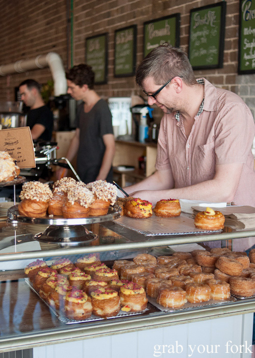 Brewnut and cruffin counter at Brewtown Newtown