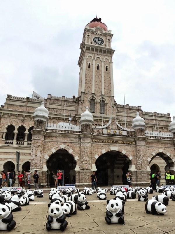 1600 pandas in Malaysia dataran merdeka