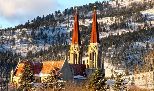 cathedralcatholicchurcheschurchhelenahelena montanamontanamounthelenasnowsthelenacathedral