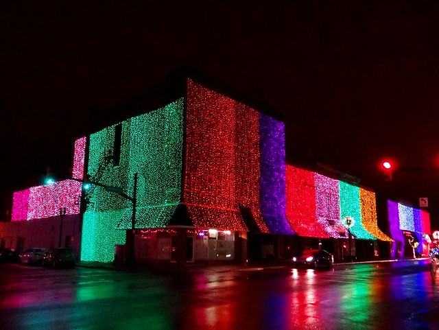 Elwood Downtown Christmas-NW Corner  Anderson & 'A' Sts