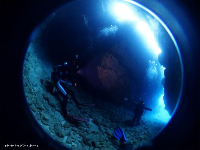 洞窟の光がキレイでしたが、洞窟内の水温が20度!激寒ですぐに出ましたw