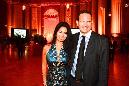Christina Sevilla with husband Steve Rochlin, co-CEO, IO Sustainability<br />Photo credit: Hollywood on the Potomac