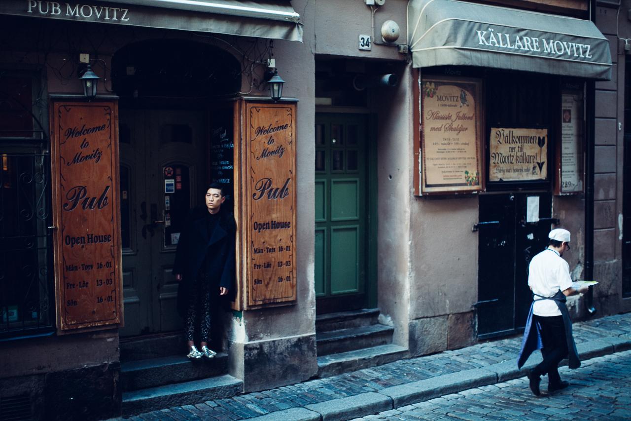 Bryanboy at Pub Movitz, Gamla Stan, Stockholm