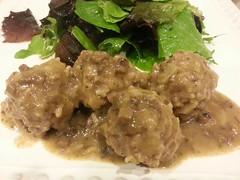 gravy, food, dish, cuisine, meatball,