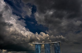 Dark Clouds over the Marina Bay Sands, Singapore