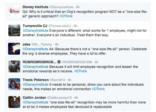 disneyinstitute-#DThink Twitter Chat Recap: Why Genuine Care Is Vital For Success