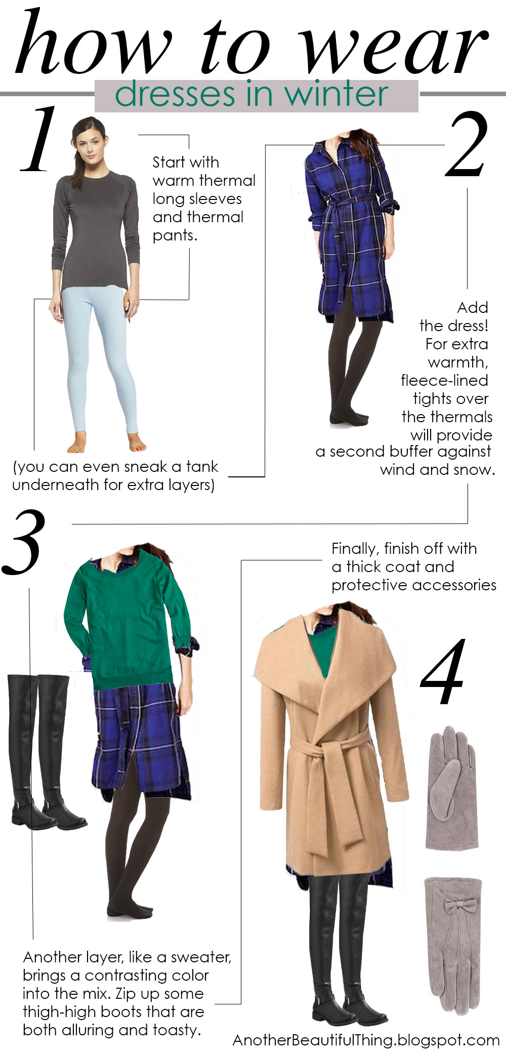 How to wear dresses in the winter time and layer dresses for cold weather