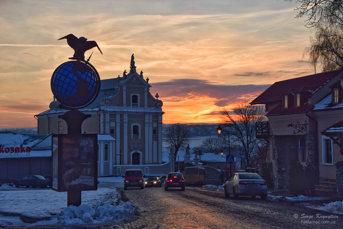 Sunset in Kamianets