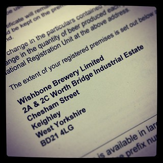 Wishbone Brewery HMRC Registration
