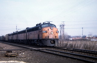 Milwaukee Road on C&NW New Line Sub near Deval
