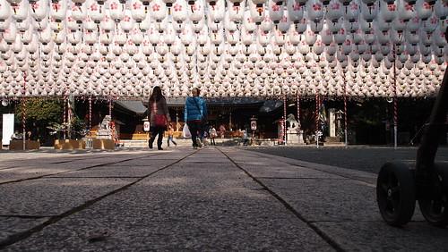 姫路護国神社の新年万灯祭