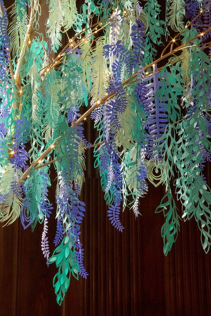 Cut Paper Decorations at Longwood Christmas 2014