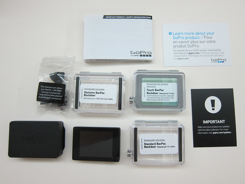 GoPro LCD Touch BacPac - Box Contents