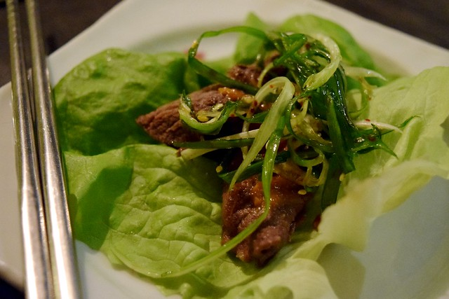 Korean Barbecue Wraps at Koba, Fitzrovia