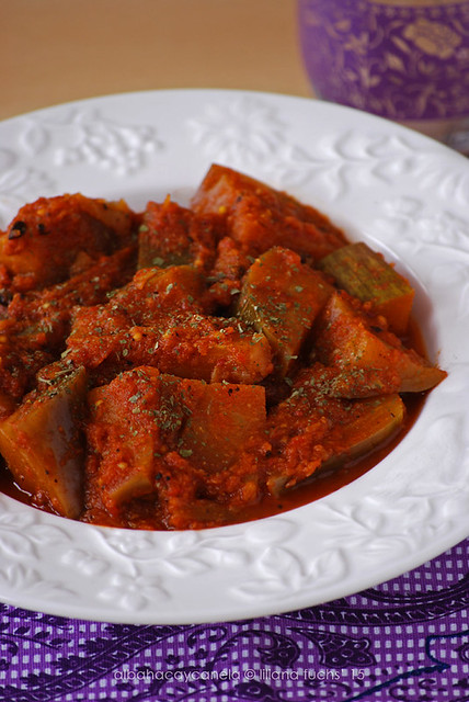 Spiced eggplant in tomato sauce