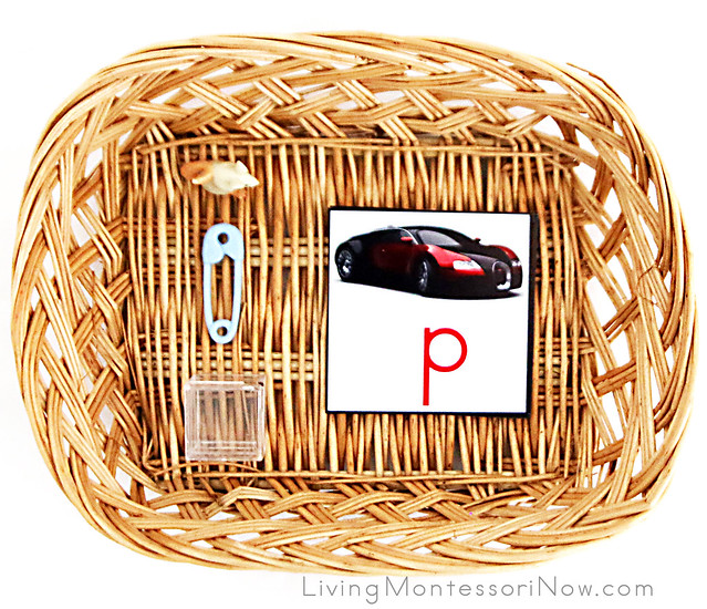 Movable Alphabet Spelling Basket with a Car Theme
