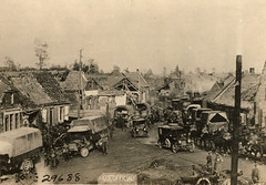 Traffic Jam at Thirtieth Division Headquarters, Montbrehain 1918