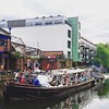 The @antheamissy barge heading down the canal #haggerston #regentscanal #streetart #streetartlondon #instagraffiti #graffiti #urbanart
