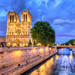 Notre Dame Glow in the Faint Evening