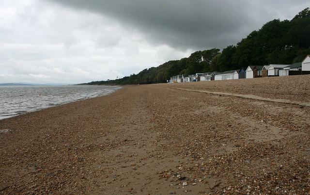 The beach at Calshot