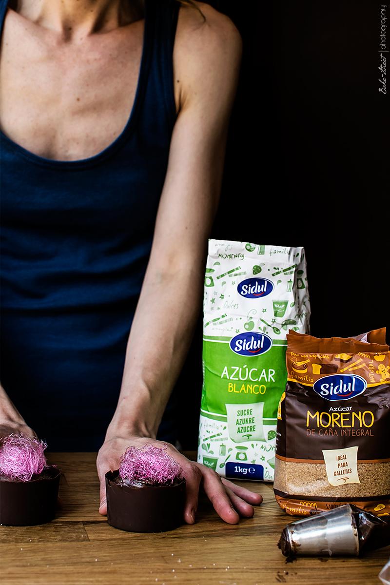 Mousse de aguacate y chocolate con algodón de azúcarmousse-3