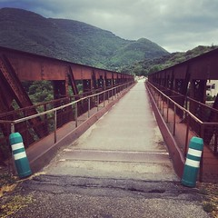 Careful with that #bridge. #cycling #velo #elemnt #wilier - Photo of Le Vigan