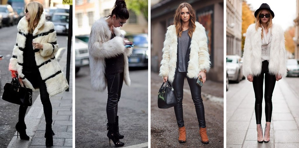 faux fur collage