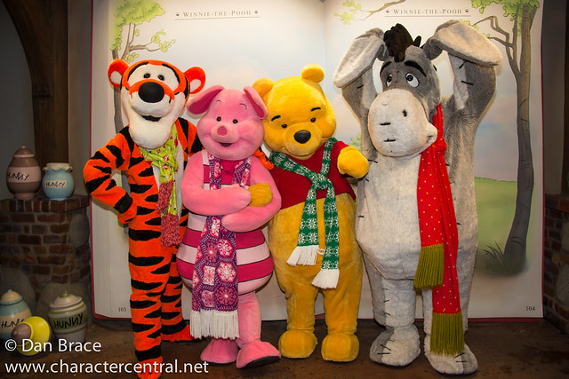Meeting Winnie the Pooh, Eeyore, Piglet and Tigger