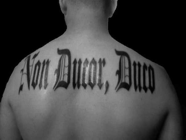 Tattoos overdrive owner operators trucking magazine for Non ducor duco tattoos designs
