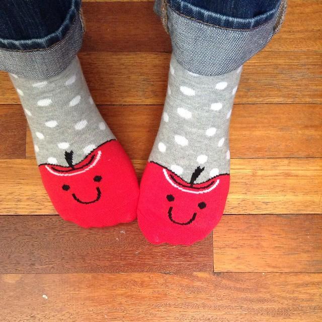 Happy Apple Socks
