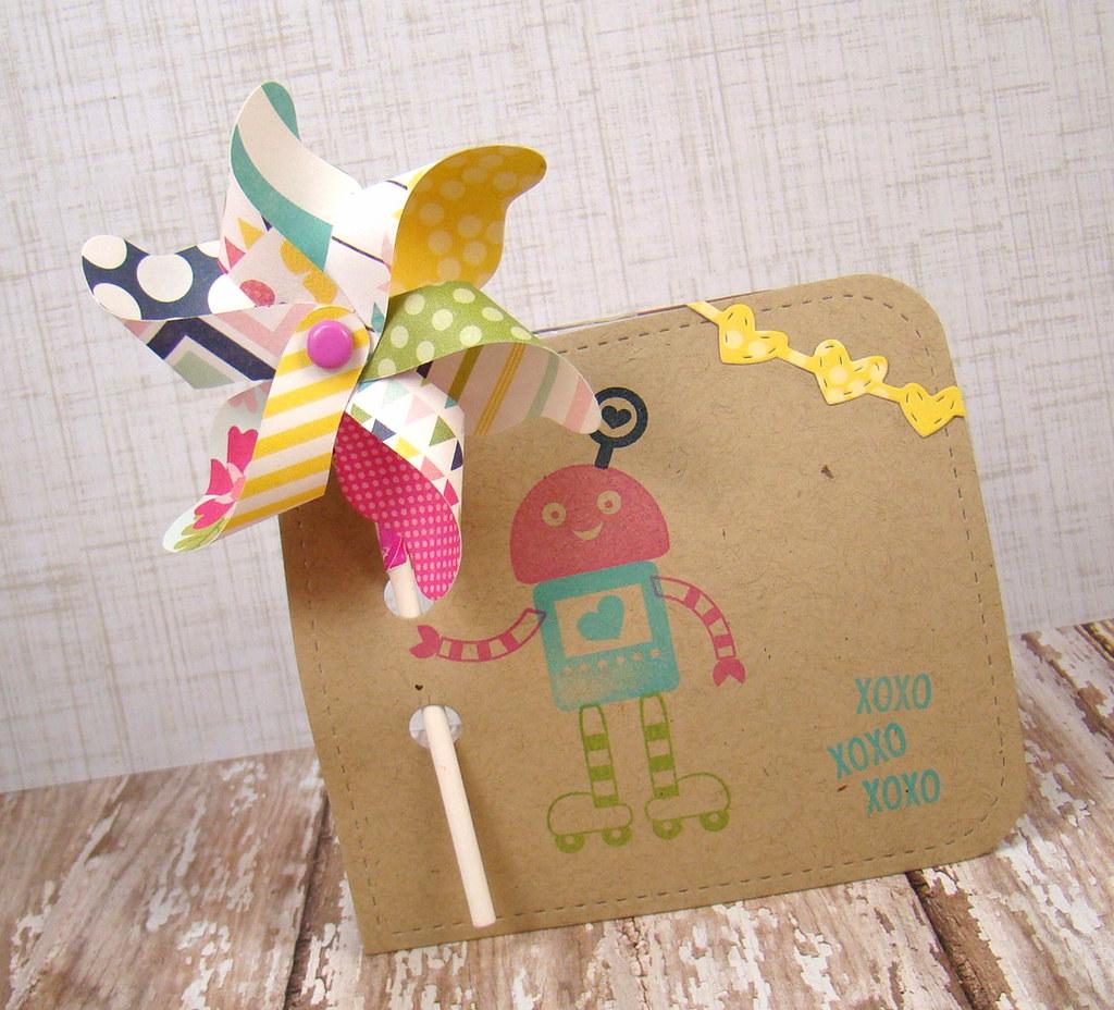 Jen Carter LID Robot Valentine Sucker Pinwheel 13 WM