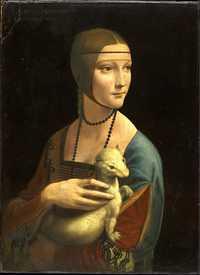 La dama del armiño, de Leonardo da Vinci, es una de las reproducciones que podrán ser admiradas durante tres meses Foto cortesía del Cenart