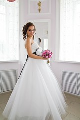 bride, bridal party dress, bridal clothing, neck, textile, gown, clothing, purple, woman, wedding dress, quinceaã±era, pink, dress,