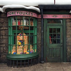 Honeydukes in Hogsmeade, featuring Bertie Bott's Every Flavour Beans. #universalorlando