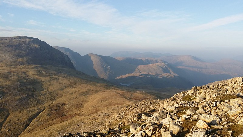 Looking down towards Esk Hause