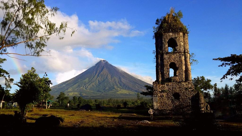 Mount Mayon seen from Cagsawa Ruins