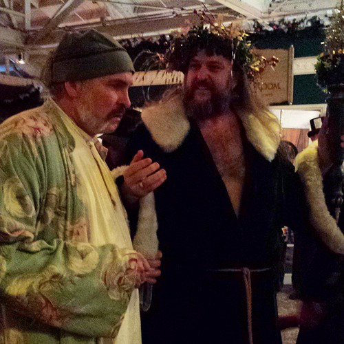 Ebenezer and Ghost of Christmas Present #dickens #faire #christmas