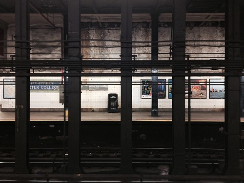 Moody subway scene, 68th St Station