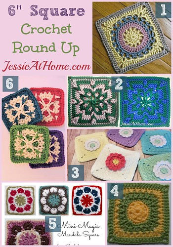 6 inch crochet squares round up from Jessie At Home