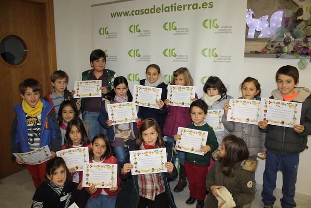Foto de familia del taller de galletas de navidad para niños