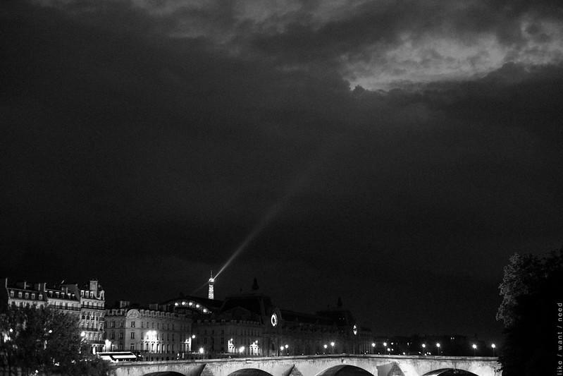 Pont du Carrousel, nuit