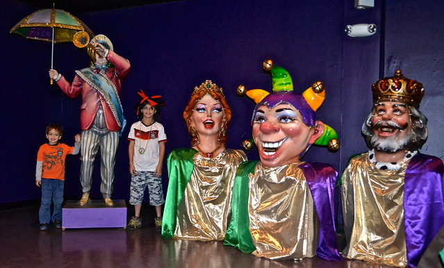 Mardi Gras World New Orleans beginning of tour