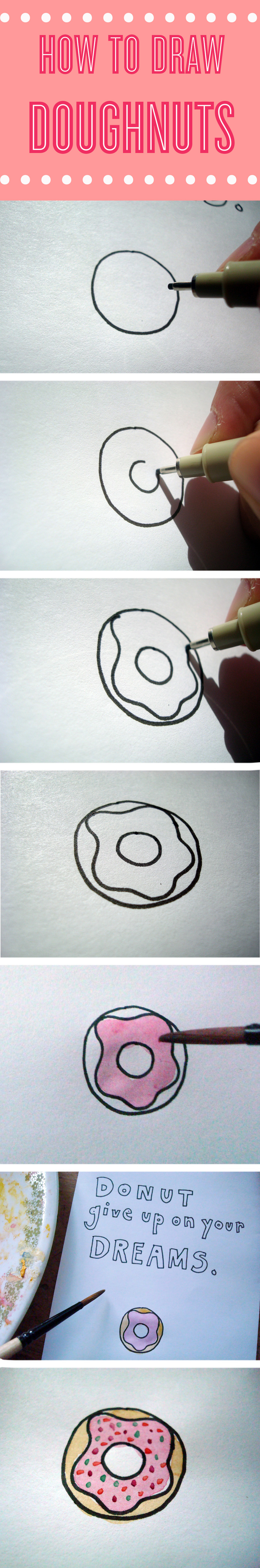 How to draw doughnuts