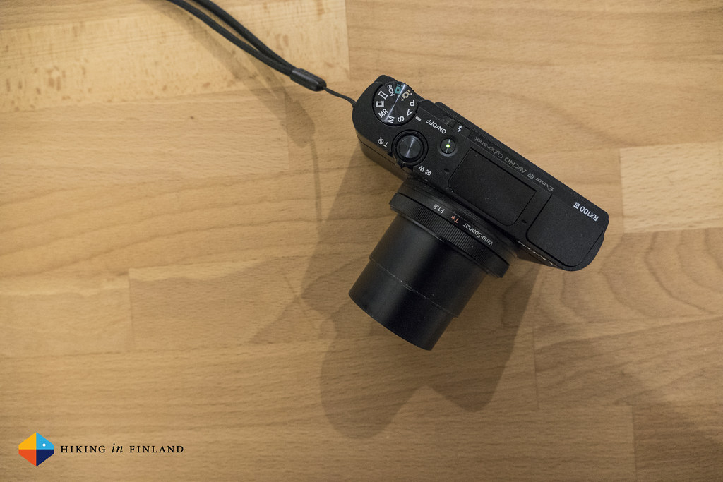 Sony RX100III top and On